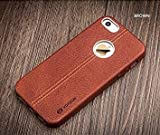 ikazen Vorson LEXZA Series Double Stitch Leather Shell Back Cover for Apple iPhone