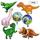 Deanyi 7 Stück Gigante Foil Dinosaurier Jurassische Luftballon Party für Geburtstag Weltmeisterschaft T-Rex Balloon Bouquet Dekoration