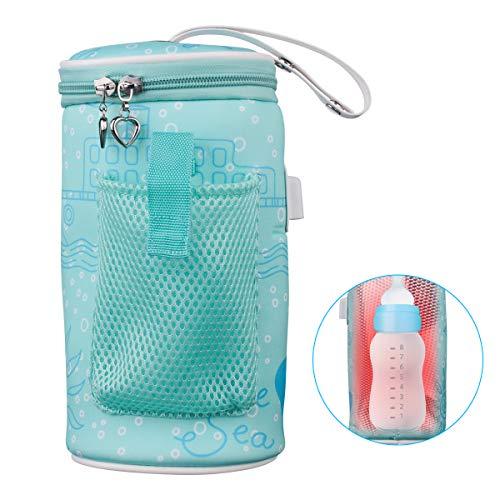 Sunsbell scaldabiberon, riscaldatore di bottiglia usb portatile borsa da viaggio per il riscaldamento del latte