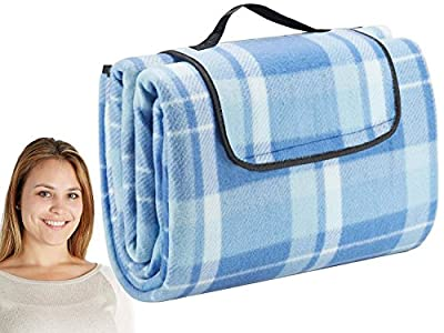 Extra Large Outdoor Picnic Blanket with Waterproof Backing - 200 x 200 cm Beach Rug Mat - Folding and Portable Perfect for Beach, Travel, Festival, Camping ... - inexpensive UK light store.