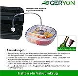 GERYON E5700-MS Vakuumiergerät, Upgrade Doppel-Modi Automatische Folienschweißgeräte mit Edelstahlabdeckung, Vakuumierer Lebensmittel Sparer/ Sous Vide Geeignet, Enthalten Folienbeutel&Rollen - 5