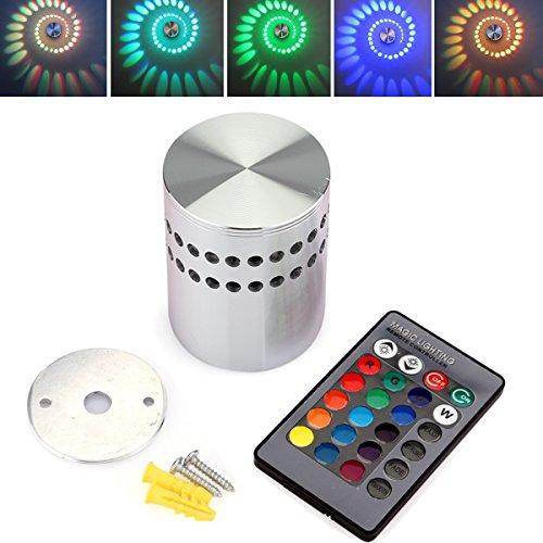 Kranich® LED RGB 3W Wandlampe Wandleuchte Effektlicht Flurlampe Deckenlampe Deckenleuchte Party Disco Lichteffekt Mit Fernbedienung