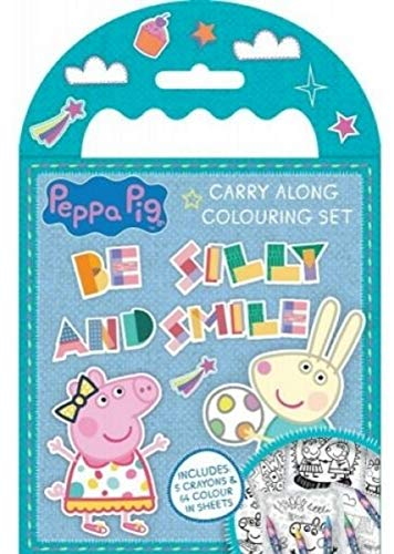 t verschiedene Zeichen Kids Activity Travel Kreiden Geschenk Party Fun Tasche Schule Peppa Pig Family Carry Along Colouring Set ()
