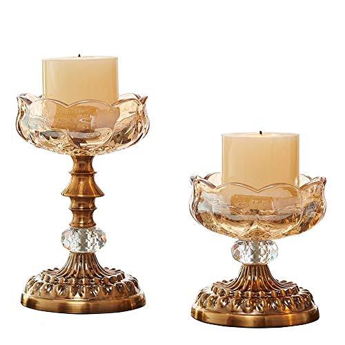 Chandeliers Bougeoir ensemble de 2 supports de chandelier, cadeaux d'intérieur d'artisanat à la maison romantique