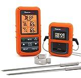 ThermoPro TP20NEW Digitales Funk-Grill-Bratenthermometer Grillthermometer Ofenthermometer BBQ Wireless Thermometer mit 2 Temperaturfühlern für BBQ, Ofen und Grills