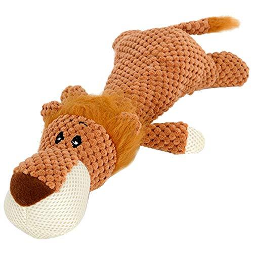 JKRTR Haustier Hund Quietschendes Zahnpflege Spielzeug InteraktivesPlüschtier süßes kleines Spielzeug(Khaki,Freie Größe)