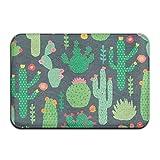 Qsgzhk Die Sauberlaufmatten grün Kaktus rot Blume gelb Garten Cool Outdoor Teppich Fußmatten Tür vorne für von Maschine klein