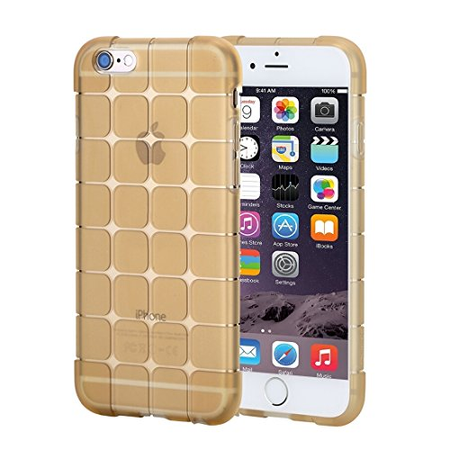 Wkae Case Cover Rock Magic Cube-Reihe für iPhone 6 Plus & 6s Plus-Transparent Weiche TPU Protective zurück Fall ( Color : Gold ) Gold