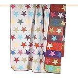Pad - Decke - Kuscheldecke - Wendedecke - Stars/Sterne - Multi - 150 x 200 cm