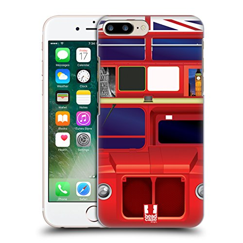 Head Case Designs Occhio Icone Dellantico Egitto Cover Retro Rigida per Apple iPhone 7 Plus / 8 Plus Bus Di Londra
