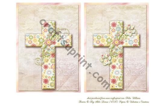 Floral Cross simpatia Duo Pet perdita di Helen Williams