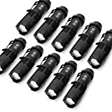 Die besten Startseite Taschenlampen - 10 Stück Mini Cree Q5 LED EDC Taschenlampe Bewertungen