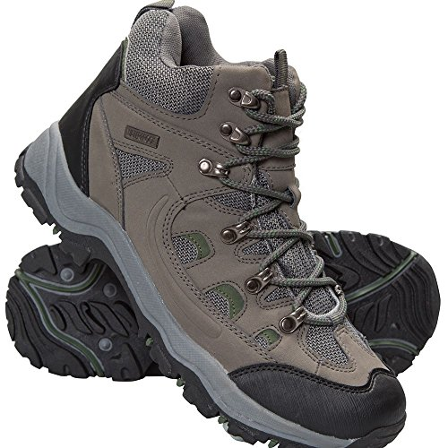 Mountain Warehouse Adventurer Mens Waterproof Hiking Walking Outdoors Boots Active Sport Shoes Khaki 8 UK