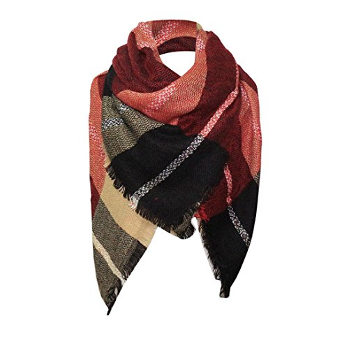 dy Frauen lange weiche Wrap Lady Schal Schal Schals Wrap Schal Kragen 135*135 mehrfarbig (B, 135*135) (Halloween Bauchtanz Musik)