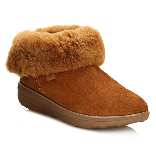 FitFlop Mukluk Shorty 2 Boots, Bottes Classiques femme Brown (Chestnut)