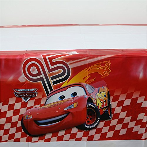 MY PARTY SUPPLIERS Car Table Cover. Premium Quality Red Car theme Table Cover Car Theme Cover