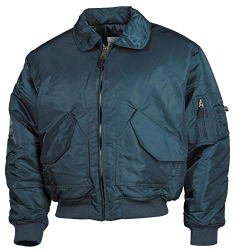 MFH CWU Jacke US Airforce Pilotenjacke Basic Blouson Herrenjacke Bomberjacke verschiedene Ausführungen, Blau, Gr. XL