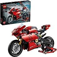 LEGO Technic Ducati Panigale V4 R 42107 advanced building set, Italien Superbike replica model and racing stan