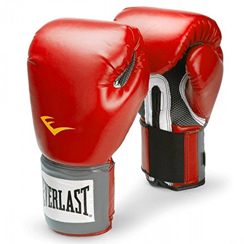 Everlast Boxhandschuhe Pro Style schwarz rot blau weiss pink 8 10 12 14 16 Oz (rot, 8 Oz) -