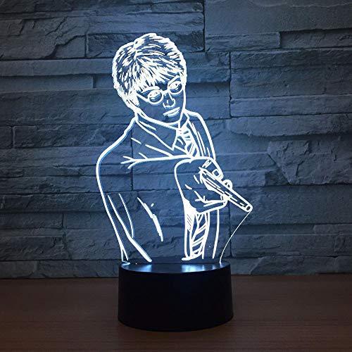 Kreative Usb 7 Farben Ändern 3D Vision Männlichen Lehrer Modellierung Schreibtischlampe Led Klassenzimmer Atmosphäre Dekor Baby Schlaf Nachtlicht