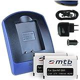 2 Baterìas + Cargador (USB/Coche/Corriente) NP-BX1 per Sony Cyber-shot HX50 HX300 RX1 RX100 WX300..HDR..v. lista