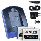 2 Akkus + Ladegerät (Netz+Kfz+USB) für Sony NP-BX1 / HDR-AS50, AS200V, AS300 / HX400, RX100 (I,II,III,VI,V), WX500 / X1000V, X3000... s. Liste