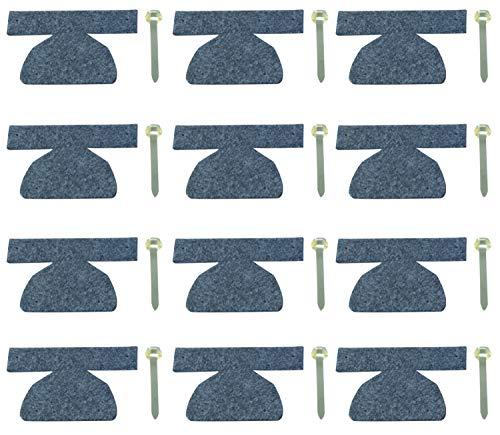 AMF Life Filz Bodenschoner 12er Set, Farbe wählbar, Kantenschutz für Bierzeltgarnitur, Festzeltgarnitur grau Klammer