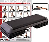 POWRX - Step fitness professionale XXL - Stepper ideale per esercizi di body pump, aerobica e...