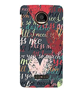 StudioArtz Follow Your Heart Poster Slim Fit Shock Proof Hard Polycarbonate Unique Matte Finish Printed Designer Mobile Phone Back Cover Case For Moto Z Force, Moto Z Force Droid