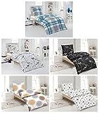 Seersucker Bettwäsche 100% Baumwolle 2-4 teilig 155x220 cm mit Reißverschluss in verschiedene Designs - 4 tlg. Set Seersucker Bettwäsche 2x155x220 + 2x80x80 cm - Mia Weiss