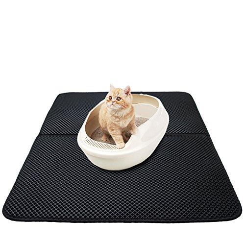 Premium-Pet-Cat-Litter-Matt-Kitty-Litter-Rug-Alfombra-para-alimentos-antideslizante-e-impermeable-fcil-de-limpiar-Caja-de-arena-esterlina-70-55cm