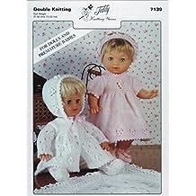 Patrón para tejer para muñecas y bebés prematuros. Este es un patrón de punto doble