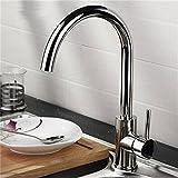 HJ-Armaturen Küche Wasserhahn Spüle Wasserhahn warm / kalt Waschbecken Wasserhahn Messing Ventil Körper Schwenk