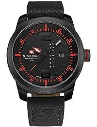 NAVIFORCE Men Military Sports Watches Men's Quartz Date Clock Man Casual Leather Wrist Watch Relogio Masculino...