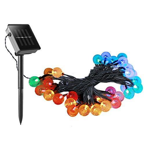 Guirnaldas-LED-Multicolor-Yokkao-Luces-LED-de-Colores-con-Panel-Solar-y-Batera-Recargable-para-Exteriores-a-Prueba-de-Agua-IP44-Jardn-casa-boda-navidad-etc