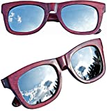 Sylt 1927 Wayfarer X4 Sonnenbrille Echtholz Mahagoni Style Spiegel Gläser