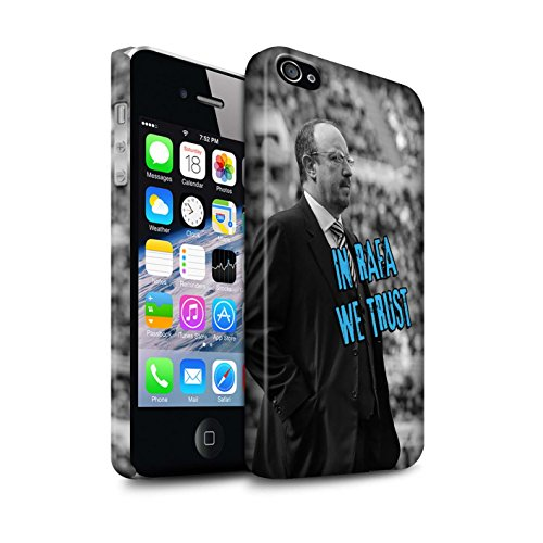 Offiziell Newcastle United FC Hülle / Matte Snap-On Case für Apple iPhone 4/4S / Pack 8pcs Muster / NUFC Rafa Benítez Kollektion Wir Vertrauen