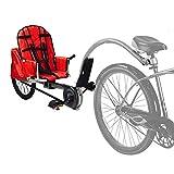Qnlly Costume de remorque de vélo des Enfants pour 3-10ages Enfants, 1 remorque de vélo de Passager, Jogger Simple de vélo de bébé Peut Charger 88LBS