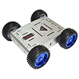 Sparkykit 4WD Bearing 15KG Smart Car Chassis (Silver) Aluminum Body Off-Road Robot