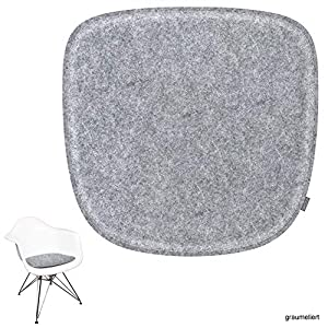 noe Eco Filz Sitzkissen geeignet für Vitra Eames Armchair – DAW,DAR,RAR,DAX,DAL,Rocker – 29 Farben – optional gepolstert und mit Antirutsch