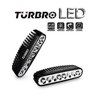 TURBRO 2 Pack 7 '' 40W OSRAM Combo LED Arbeitslicht Spreader Light Deck / Marine Lichter für Boot schwarz