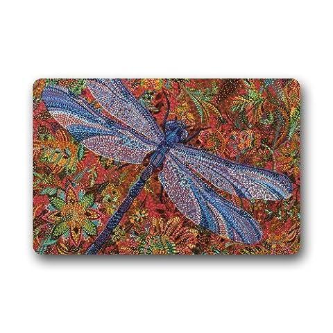 Good_quality Custom Dragonfly Doormat Rug Indoor/Outdoor Door Mats Home Decor 23.6