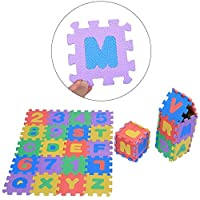 Zerodis 36Pcs Infant Soft EVA Foam Play Puzzle Mat Numbers & Letters Baby Children Kids Playing Crawling Non-Toxic Pad Toys for Crawling Baby Infant Classroom Toddlers Kids Gym Workout