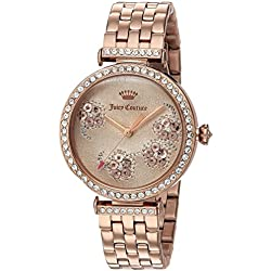 Juicy Couture Women's 'J' Quartz Stainless Steel Casual Watch, Color:Rose Gold-Toned (Model: 1901517)