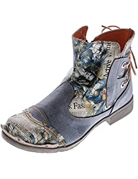 Damen Leder Stiefeletten Comfort Boots Knöchel Schuhe TMA 5116 Halbschuhe Gr. 36 - 42