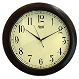 #8: Ajanta analog wall clock(Brown,Vintage Look)