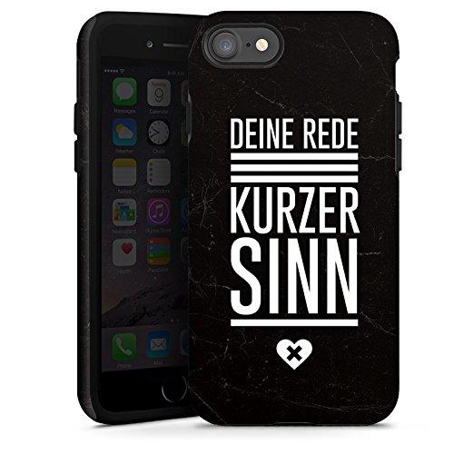 Apple iPhone X Silikon Hülle Case Schutzhülle Leben Sinn Spruch Tough Case glänzend