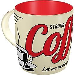 "Nostalgic-Art 43022Taza con diseño ""Strong Coffee Served Here"""
