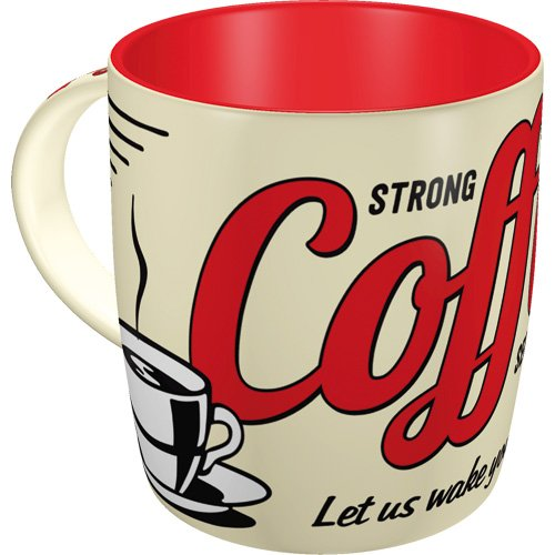 Nostalgic-Art 43022 USA - Strong Coffee Served Here | Retro Tasse | Kaffee-Becher | Geschenk-Tasse |...