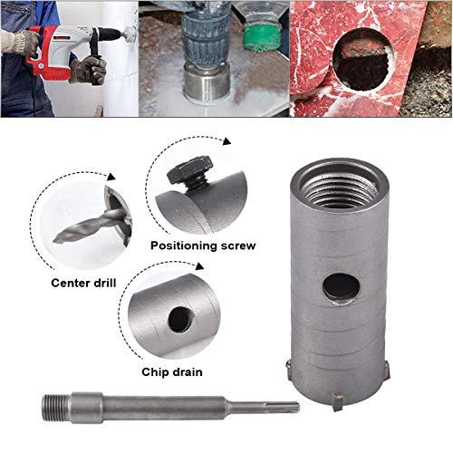 HOHXEN 35mm SDS Plus Lochsäge Betonbohrer Betonschneider für Betonzementstein + Schraubenschlüssel + Verbindungsstange + Bohrer